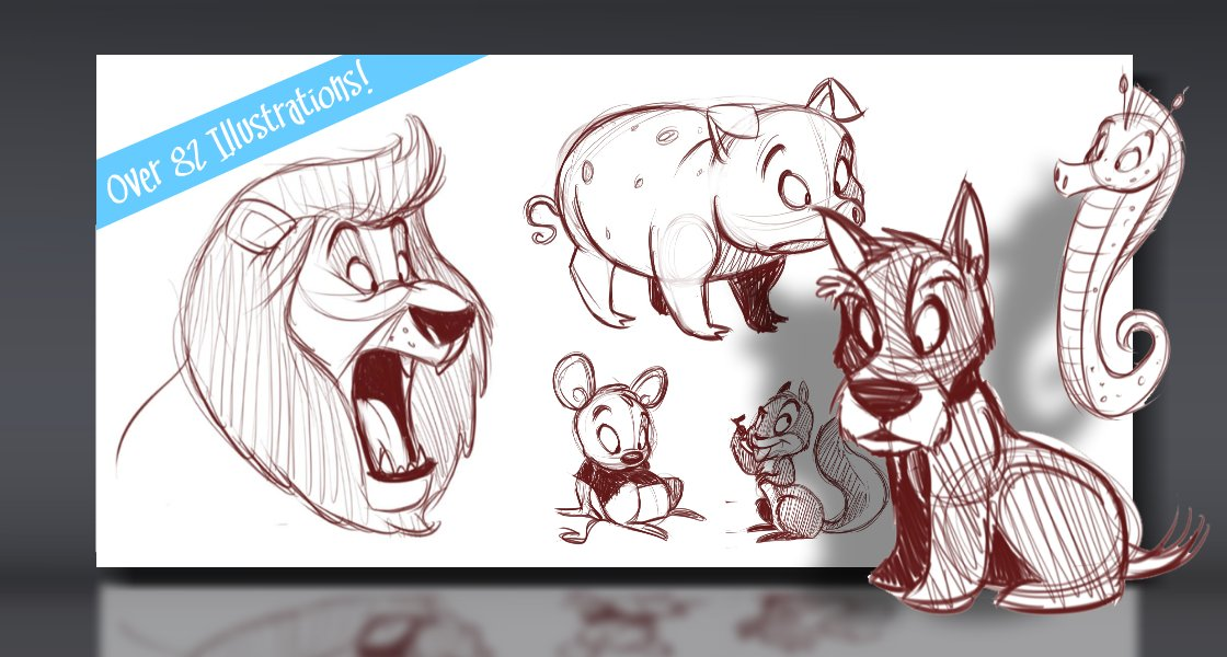 Click to view How to Draw Cartoon Animals Tutorial
