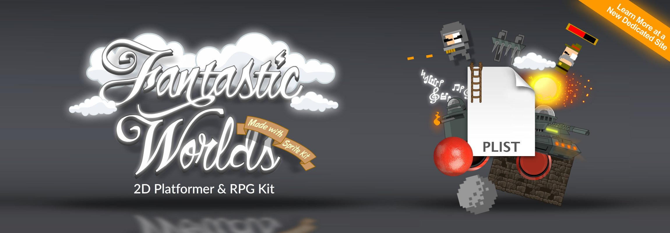 Click to view The Fantastic Worlds iOS Starter Kit for Side Scrolling, Top Down or Isometric Role Playing Games!
