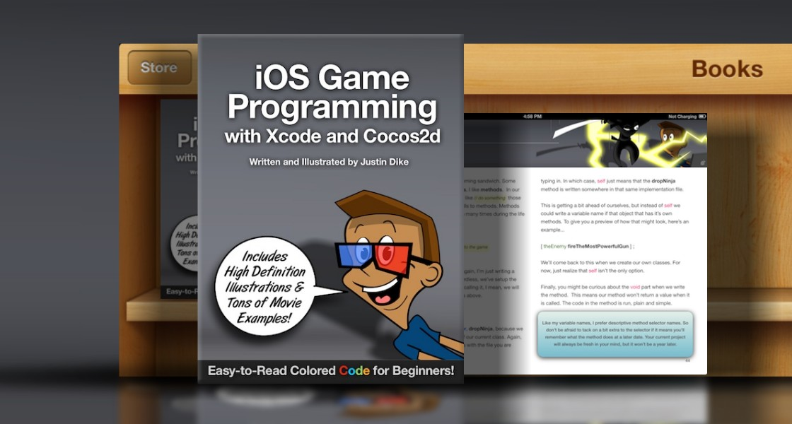 Click to view iOS Game Programming with Xcode and Cocos2d - Made for iBooks