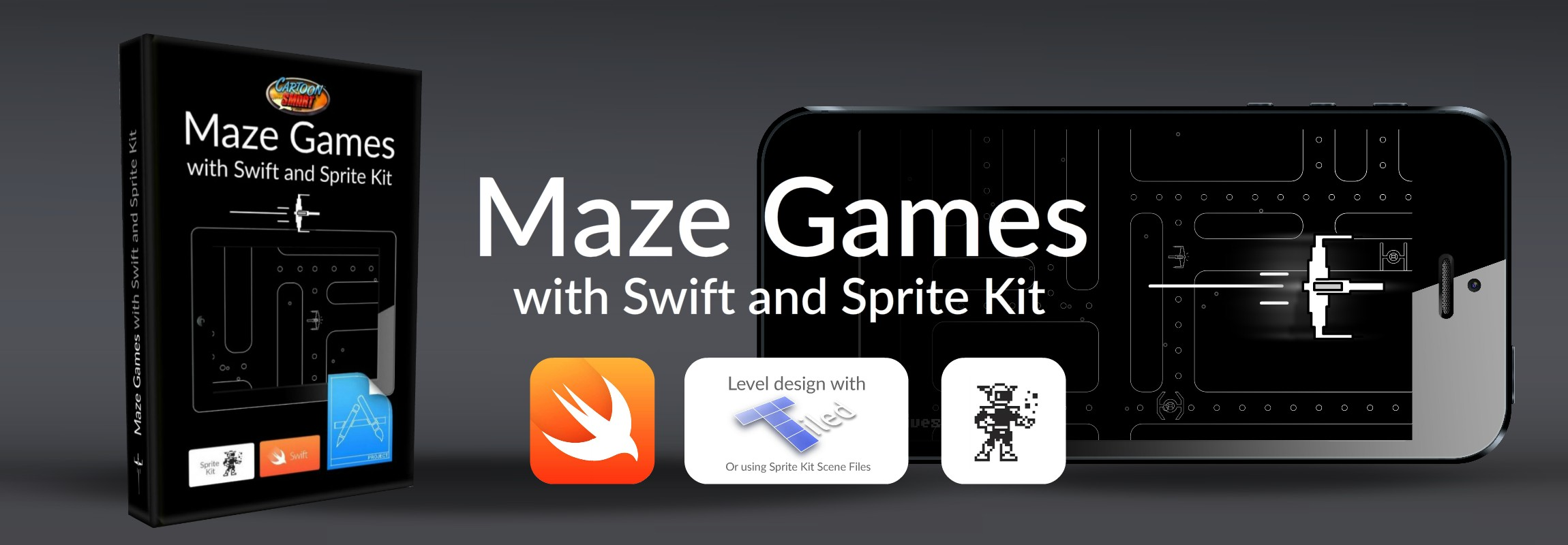 Click to view iOS Maze Games Tutorial with Swift and Sprite Kit!
