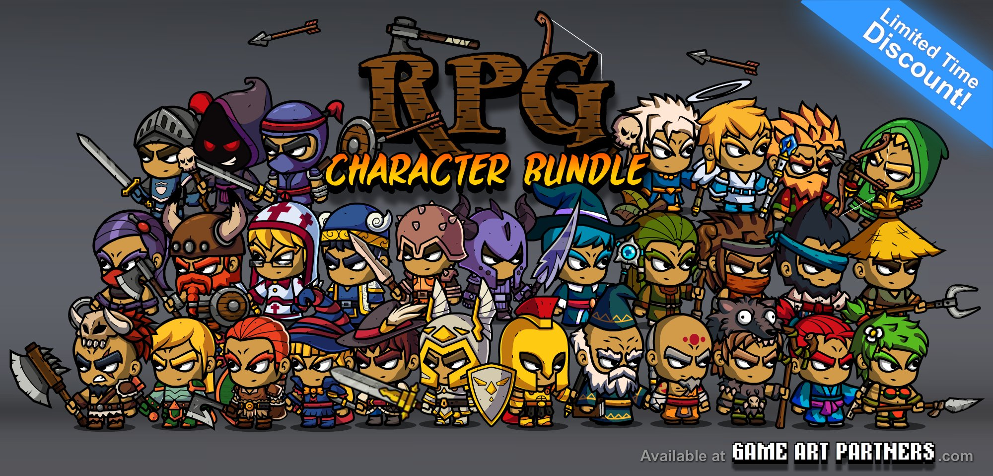 Click to view RPG Character Bundle of Royalty-Free Game Art