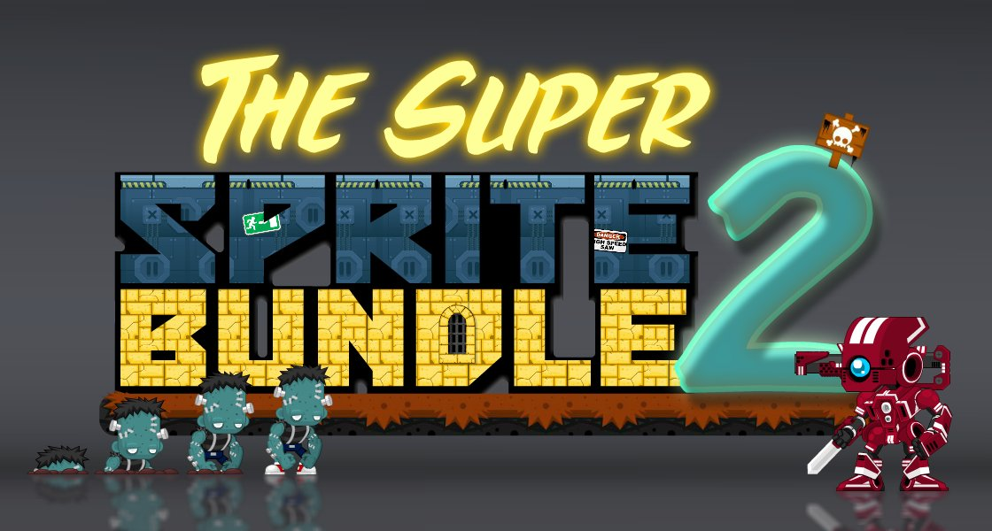 Click to view The Super Sprite Bundle 2 - 16 Packages of Royalty Free Game Art